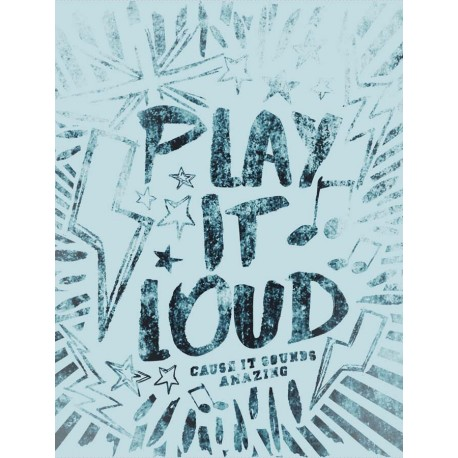 Panel na worek- Play it loud - 38x50 cm
