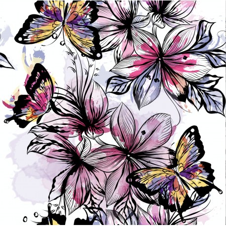 Butterflies on black 2
