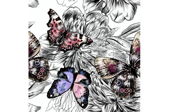 Butterflies on black 1  dzianina