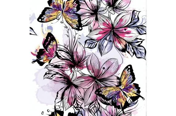 Butterflies on black 2 knitwear