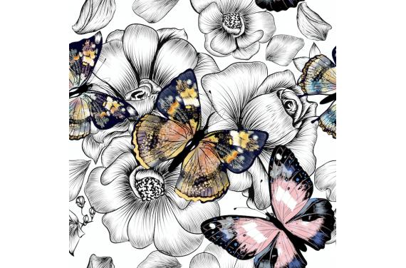 Butterflies on black 3 knitwear