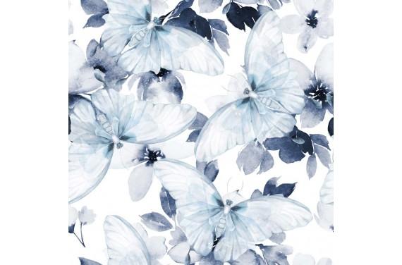 Blue buttrfly dzianina