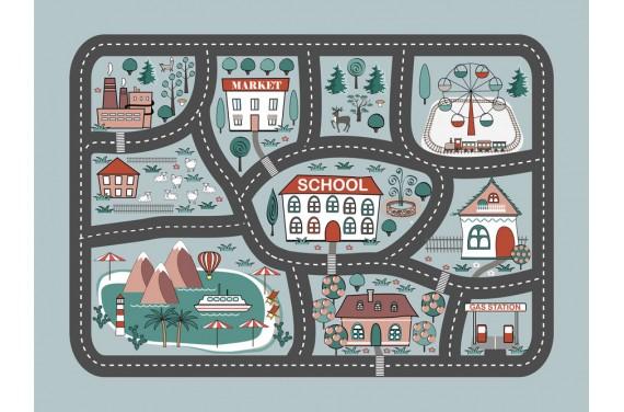 Матовая панель City map