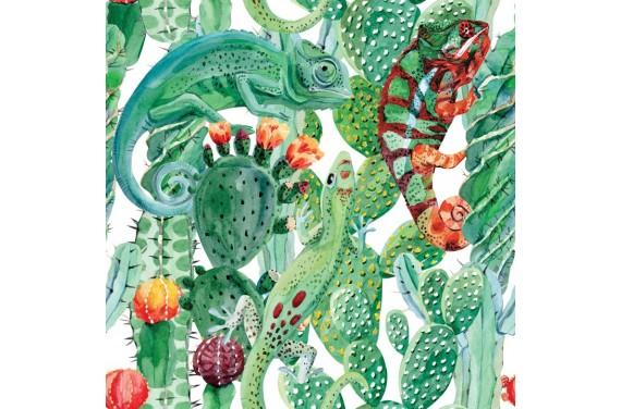 Chameleon & cactus 3