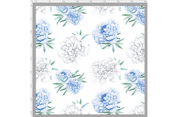 Blue peonies 2 stricken