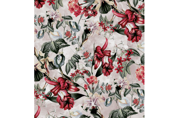Floral on cream