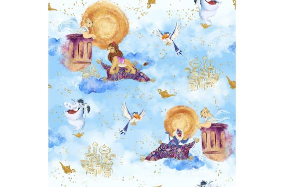 Lion in magical world 3- tkanina