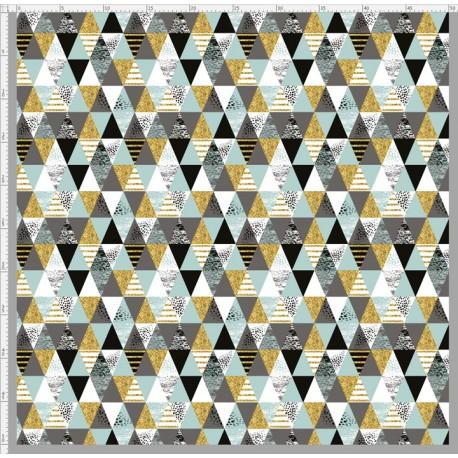 Shiny mint triangles