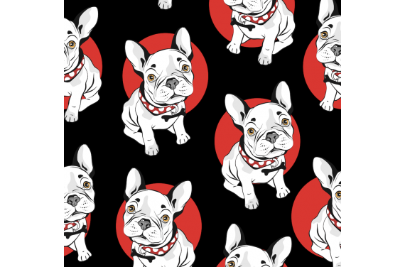 French bulldog red