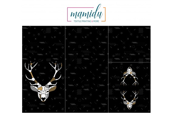 Panel na śpiworek Scandi deer black
