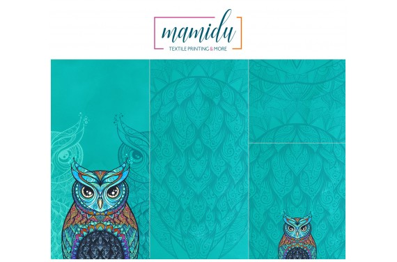 Panel na śpiworek Colorful owl