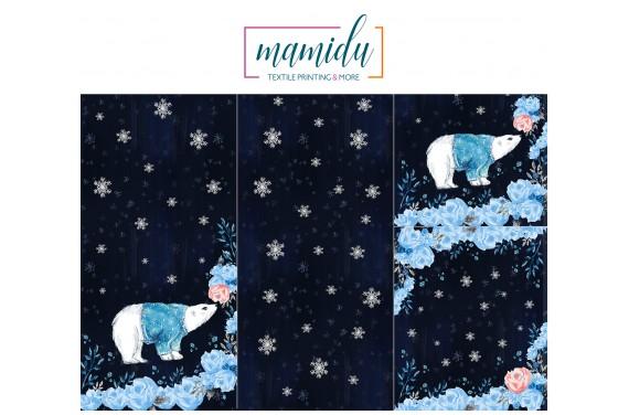 Panel for sleeping bag  Magic winter bear