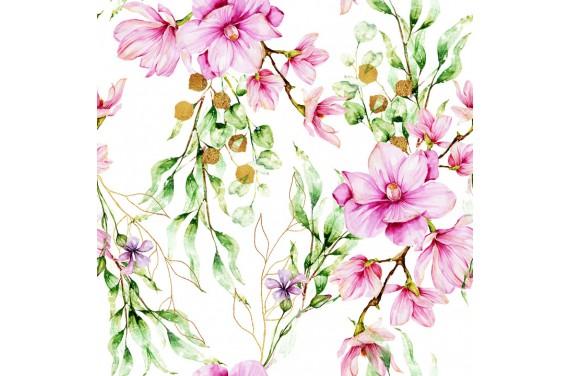 Pastel magnolias 3 fabric