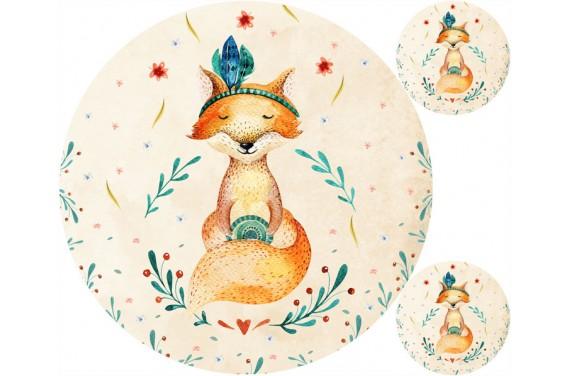 Autumn fox мат + подушка бЕСПЛАТНО!
