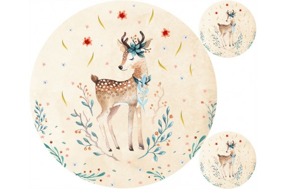 "Mat ""Autumn deer"" + FREE pillow"