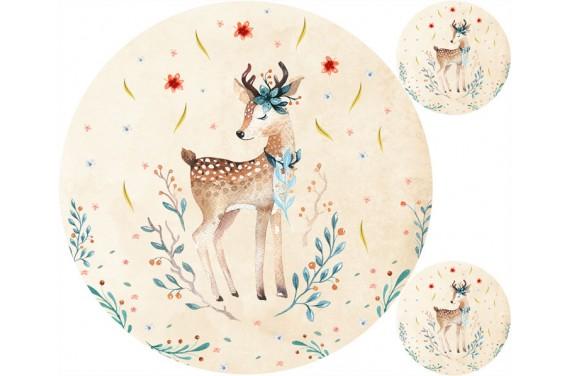 """Mat """"Autumn deer"""" + FREE pillow"""