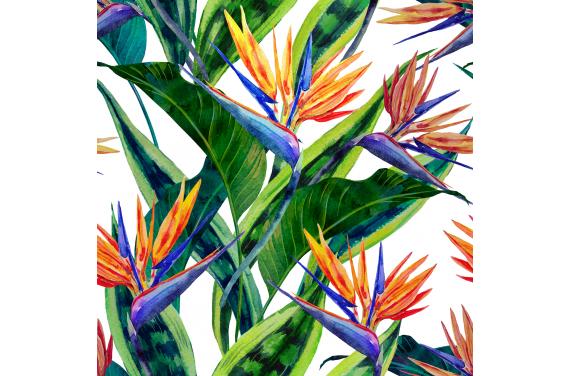Egzotyczne kwiaty 1 tkanina