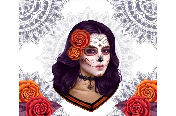 Панель для мешка - Candy skull - 50x40 см