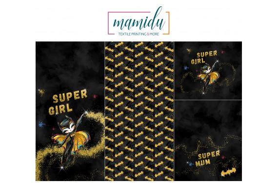 Panel for sleeping bag Super Girl