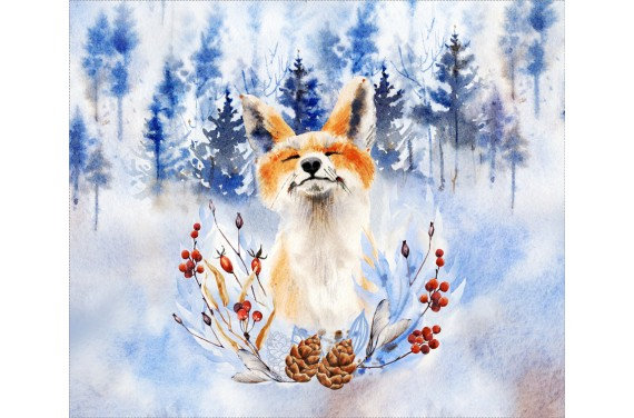 Panel na torbę - Fox in the forest - 50x40