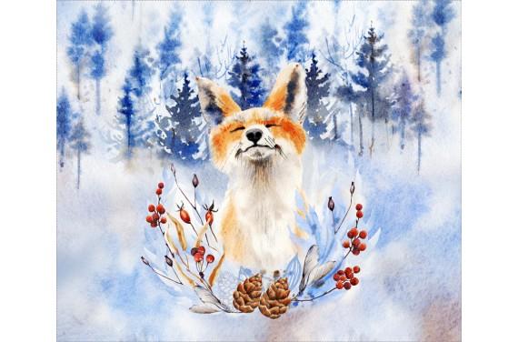 панель управления - Fox in the forest  - 50x40 см