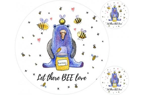 Miś i pszczoły mata