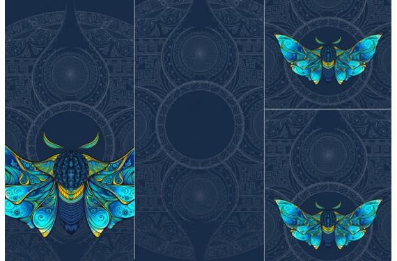 Panel for sleeping bag Colorful moth