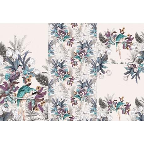 Panel for sleeping bag - Jungle parrots - 2